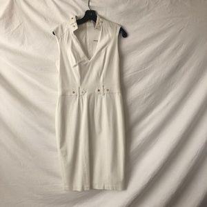 NWT - CACHE WHITE DRESS, SIZE 6